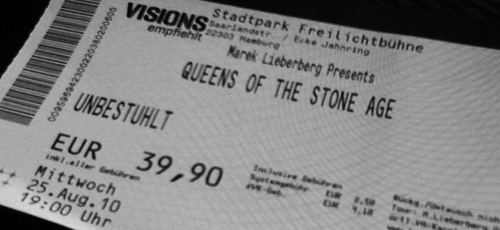Karte Queens of the Stone Age Stadtpark